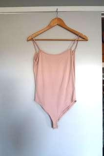 ZARA Baby Pink Bodysuit - Size S