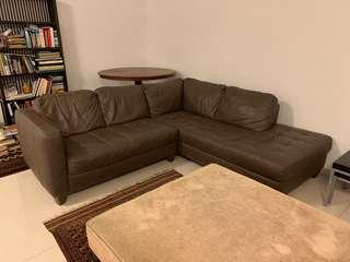 Natuzzi sectional leather sofa couch made in Italy