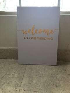 Welcome to my wedding signage