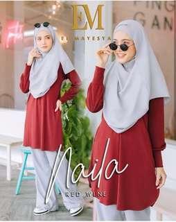 Naila blouse red
