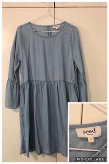 Seed sleeve dress