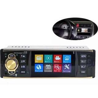 🚚 New 1 DIN Car Radio Player Touchscreen, Bluetooth, USB/Car Player - Free Remote Controls