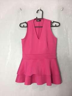 Pink Neoprene Top