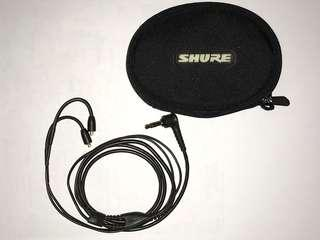 Shure MMCX Cable Original from SE215 with Carrying Case (3.5mm 原裝線)