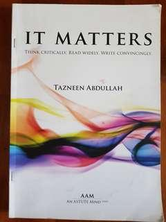 English Essay Guidebook - IT MATTERS