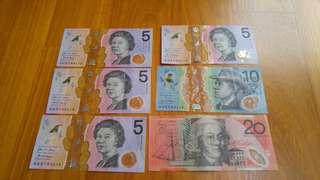 Australian Dollars (AUD) for sale/trade