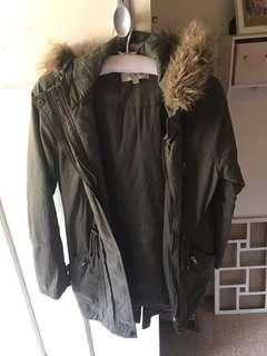 Just jeans coat, good condition, very warm