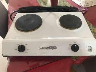 Electric 2-burner stove