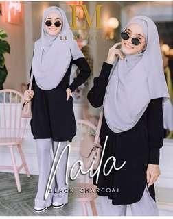 Naila blouse black size L and XL