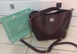 Saime Maroon Bag