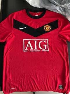 Manchester United shirt 09/10 曼聯球衣波衫