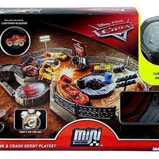 Disney Pixar Cars Mini Racers Crank & Crash Playset