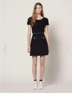 Sandro knitted skirt with jewelled buttons