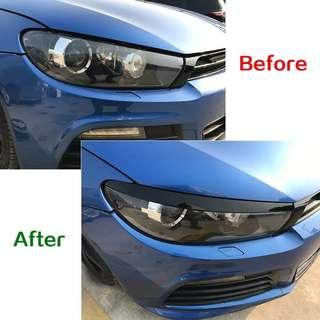 Volkswagen Scirocco R GTS 2008-2017 Headlight Eyebrow Eyelids Stickers Trim Cover Accessories Car Styling