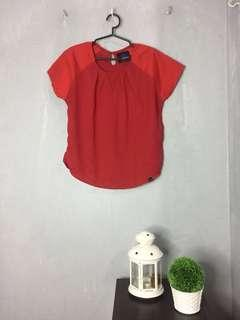 Plains & Prints Red Top