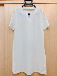🚚 mixxo白色長版開叉上衣