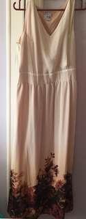Long beige dress