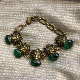 🚚 G家 Gucci款 虎頭綠水晶手鍊 虎頭手鍊 造型手鍊 水晶手鍊 個性復古造型手鍊