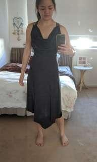 Dark gray jersey evening dress from Green with Envy