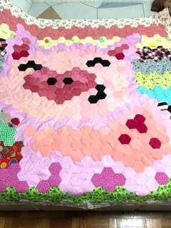 Piggy patchwork blanket