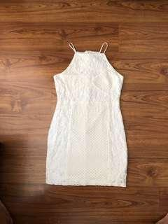 Top shop white lace halter dress ✨ REDUCED!