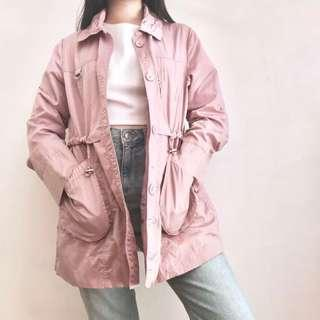 PINK LIGHT TRENCH COAT