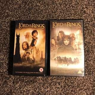 Lord of the rings vhs video tape