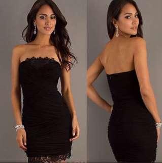 Bebe authentic mini black lace dress
