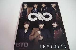 Infinite Limited Edition BTD Japanese Album [Type B] with Woohyun PC