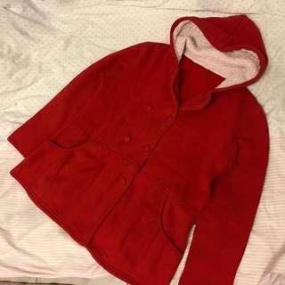 🚚 紅色刷毛外套