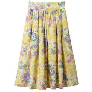 31 Sons de mode 黃色 花花 裙 似 snidel 日本購入