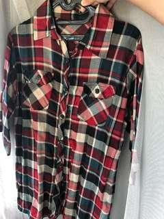 [PRELOVED - F] Plaid Shirt