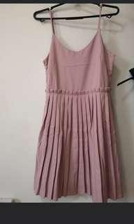 Brand new without tag pink pleated dress