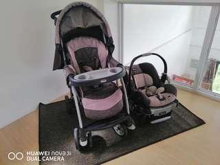 Chico stroller and car seat