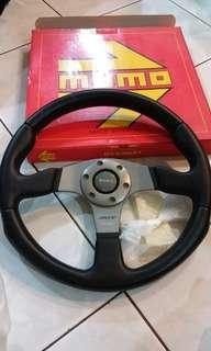 Original Momo Race Leather Steering