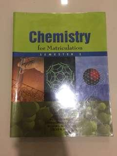 Chemistry for Matriculation Semester 2