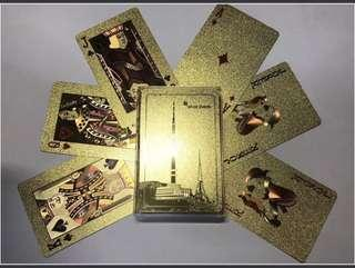 Gold Playing Cards (From N Seoul Tower, South Korea)