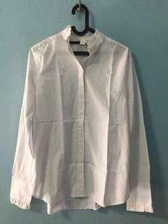 [NEW] HnM White Shirt Kemeja Lengan Panjang