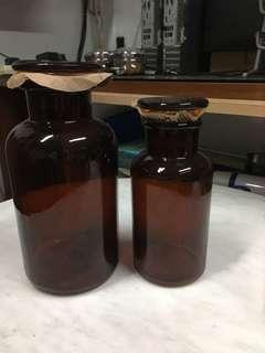 Pair of Glass Bottle $15