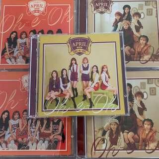 april oh-e-oh japanese singles