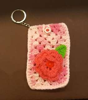 🚚 Crochet Card Holder Keychain