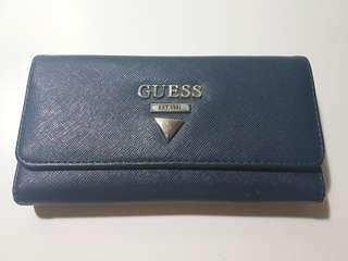 Guess Women's Medium Navy Leather Wallet