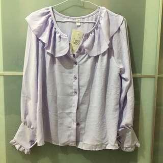 🚚 淡紫色襯衫上衣