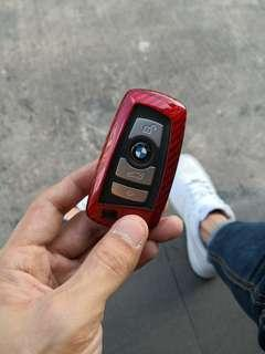 Bmw Carbon Fibre Sporty Red Remote Key Cover Hard Case For BMW 1,2,3,4,5,GT,6,7 Series