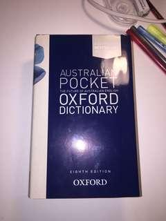 Australia Pocket Oxford Dictionary
