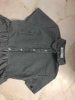 Checkered Button Down Midi Dress