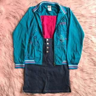 climberholic bomber jacket ~ jaket jadul 80an vintage