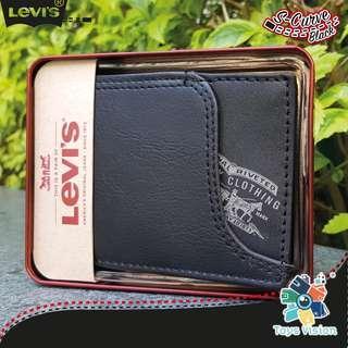 全新 Levi's S-Curve Leather Mens' Wallet 真皮銀包, 黑色