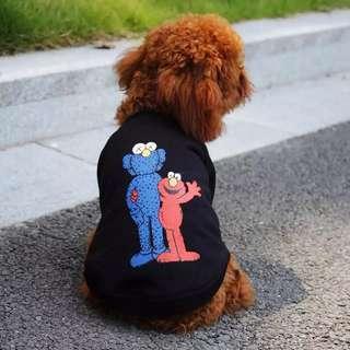 🚚 [PO]Dog Pet Shirt Elmo Kaws