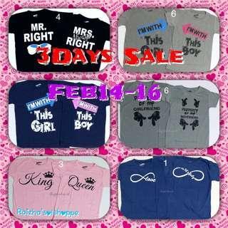 Promo!!! B3 Couple Shirts